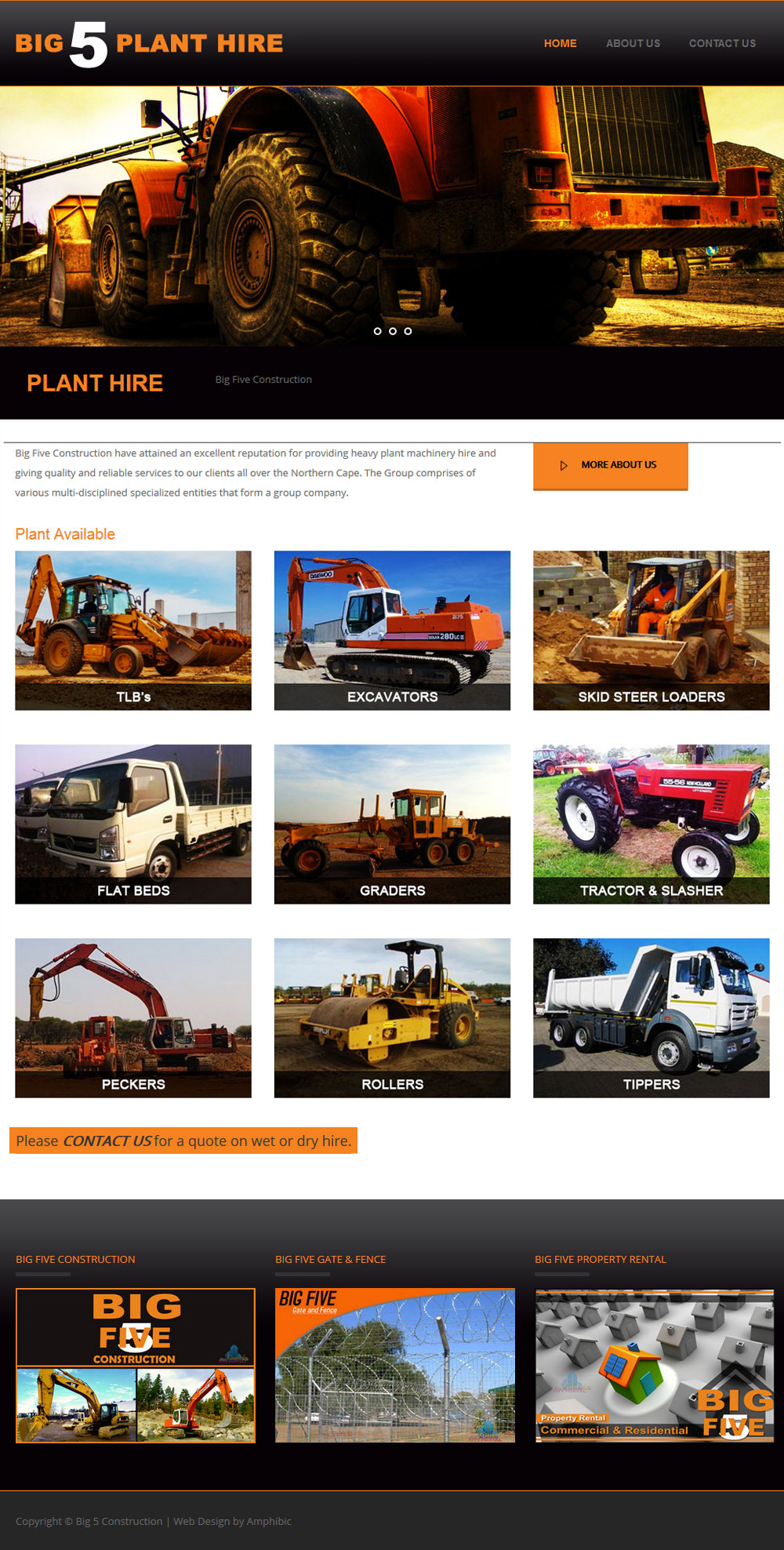 Big 5 Plant Hire – Website