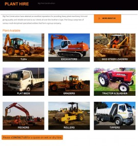 Big_5_Plant_Hire_Website - Designed by Amphibic