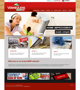 Vermeulens Website by Amphibic Design