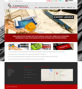 Kimberley Roof Trusses Website by Amphibic Design