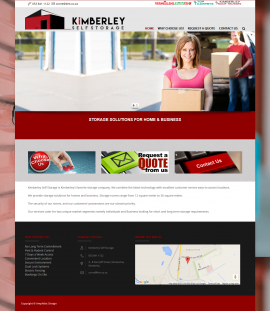 Kimberley Self Storage Website by Amphibic Design